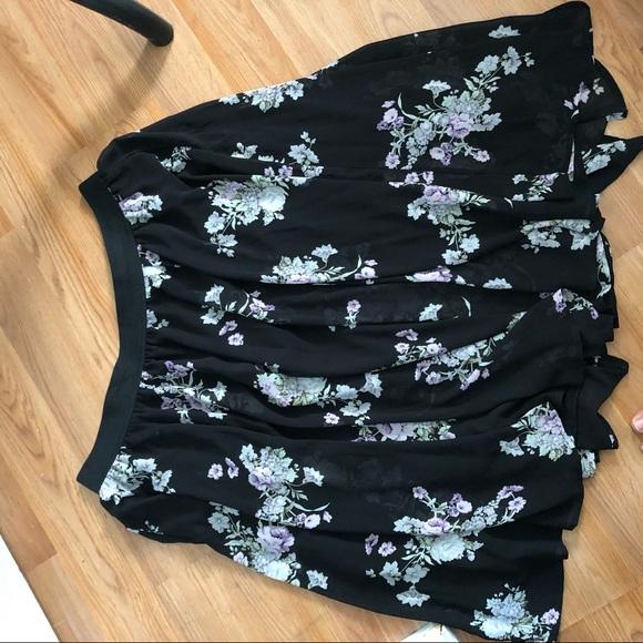 torrid Dresses & Skirts - Torrid Black Floral Midi Skirt